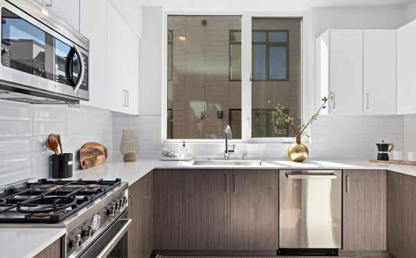 Kitchen at 6309F 9th Ave NE in Zenith Towns East by Isola Homes