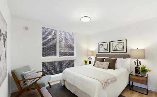 Master Bedroom in One of The Wyn Townhomes, Located on E Howell Street in Capitol Hill