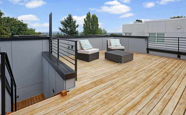 Roof Deck at the Hawk's Nest Townhomes