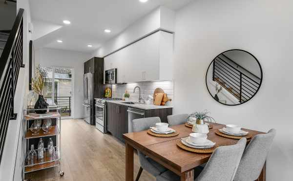 Dining Area of 201B 23rd Ave E at 6 Central in Capitol Hill