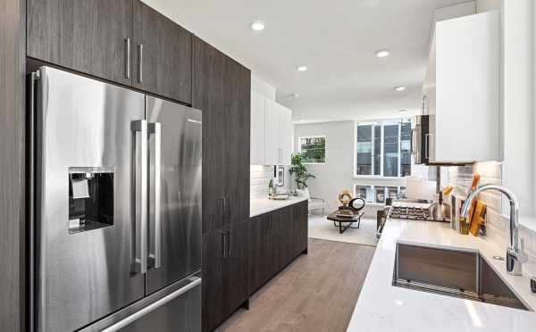 Kitchen at 224 18th Ave, One of the Jade Rowhomes in the Cabochon Collection