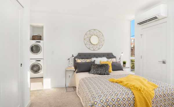 Laundry Area off the Master Bedroom in Unit F