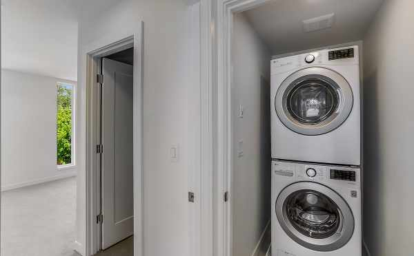 Laundry Area at 1703 NW 62nd St in the Kai Townhomes, by Isola Homes