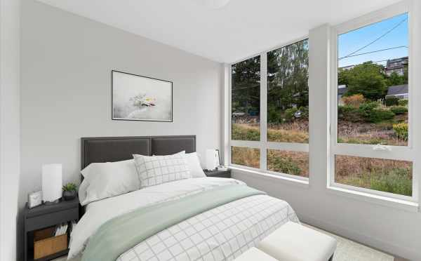 Second Bedroom at 3015C 30th Ave W, One of the Lochlan Townhomes by Isola Homes