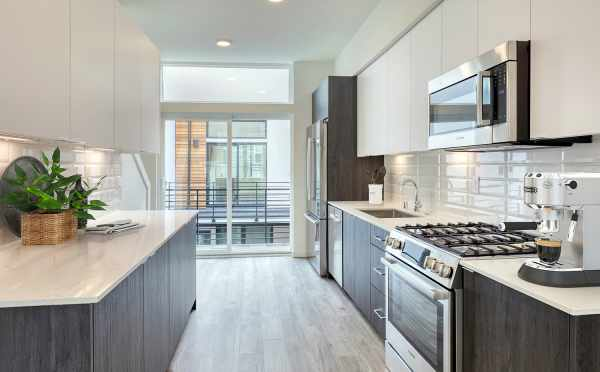 Kitchen at 14339C Stone Ave N, One of the Maya Townhomes in Haller Lake