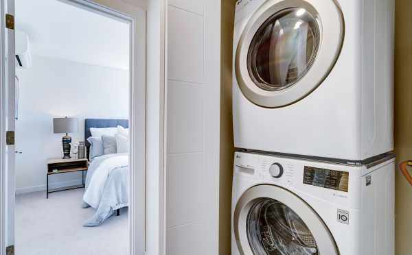 Laundry Area Near the Owner's Suite at 14339E Stone Ave N, One of the Maya Townhomes