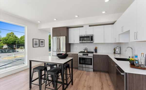 Dining Area and Kitchen at 6421 14th Ave NW, One of the Oleana Townhomes