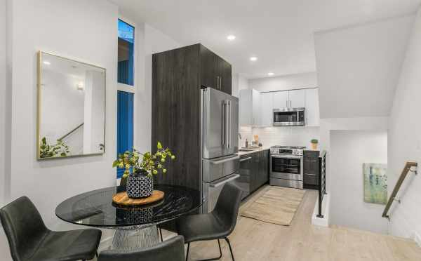 Dining Area and Kitchen at 109A 22nd Ave E, One of the Thalia Townhomes