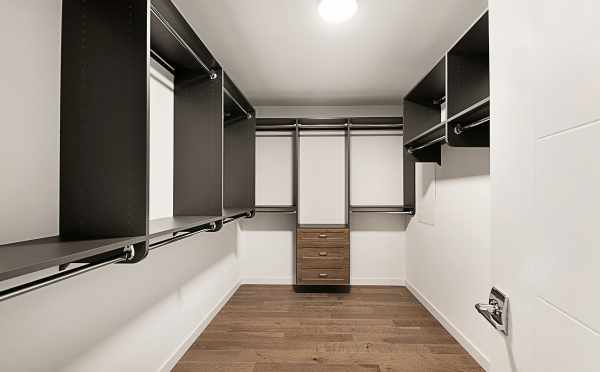 Master Closet in the Second Twin II Townhome