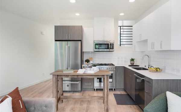 Kitchen at 445 NE 73rd St, one of the Verde Towns 2 by Isola Homes