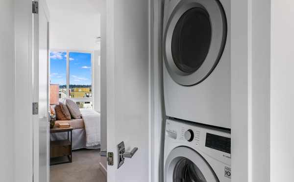 Ultra-Large Capacity Washer and Dryer at 2308 W Emerson St, One of the Walden Townhomes by Isola Homes