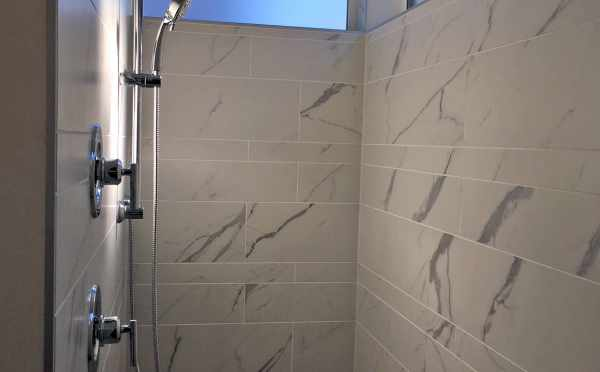 Shower in the Master Bath of Oncore Townhomes in Capitol Hill Seattle