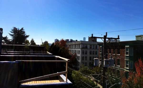 View Looking South from One of the Rooftop Decks of the Oncore Townhomes in Capitol Hill Seattle