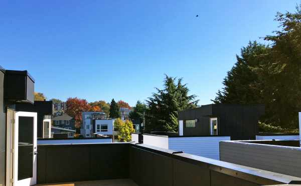 View Looking East from One of the Rooftop Decks of the Oncore Townhomes in Capitol Hill Seattle