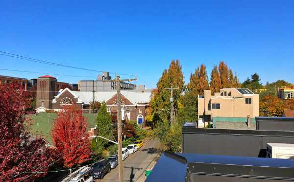 View Looking North from One of the Rooftop Decks of the Oncore Townhomes in Capitol Hill Seattle