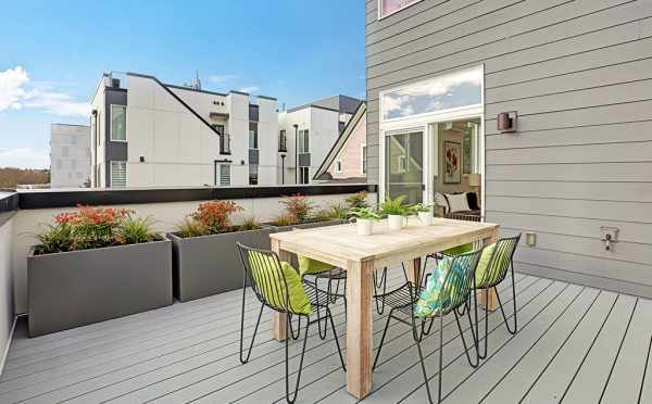 Deck off the Living Room at 7219 5th Ave NE