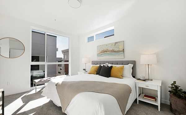Master Bedroom of 7528A 15th Ave NW, Townhome in Talta Ballard