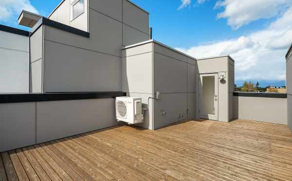 Roof Deck at 1644 E 20th Ave in the Avani Townhomes