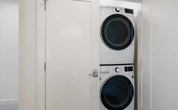 Washer and Dryer at 1812 E Spruce St, One of the Opal Rowhomes in the Cabochon Collection