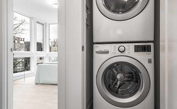 Washer and Dryer at 111F3 14th Ave, One of the Corazon North Townhomes