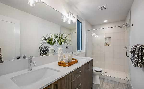 Master Bathroom at 6111 17th Ave NW in the Kai Townhomes