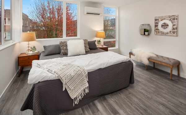 Master Bedroom in the One of the Units of Oncore Townhomes