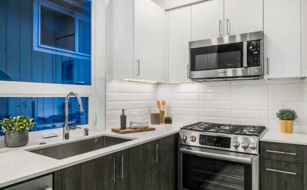 Stainless Steel Appliances in the Kitchen at 109A 22nd Ave E