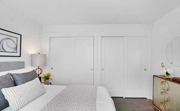 Closets in the Master Bedroom of 1113 E Howell St