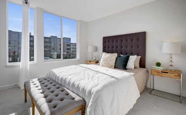 Master Bedroom at One of the Verde Towns 1 at 437D NE 73rd St