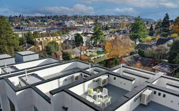 Aerial View of the Roof Decks at the Walden Townhomes in Magnolia