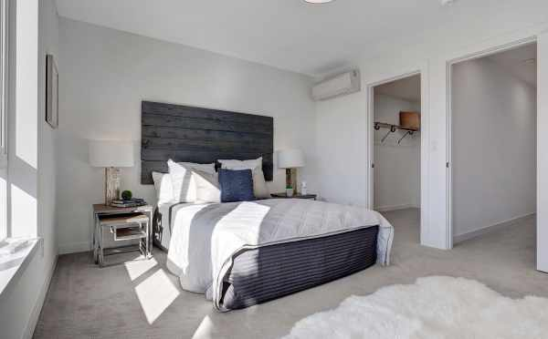 Master Bedroom at 3539 Wallingford Ave N, One of the Lucca Townhomes