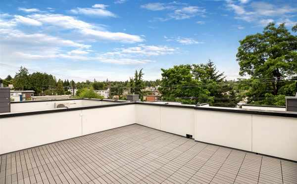 Roof Deck of 5111B Ravenna Ave NE, One of the Tremont Townhomes
