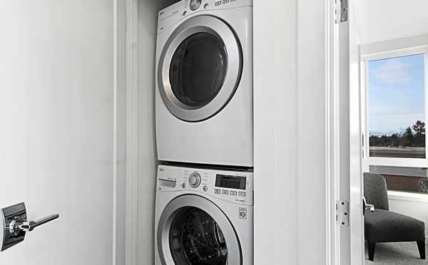 Stackable Washer and Dryer in 7530B 15th Ave NW, Live-Work Unit in Talta Ballard