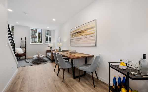 Dining Area at 1105F 14th Ave, One of the Corazon Central Townhomes in Capitol Hill