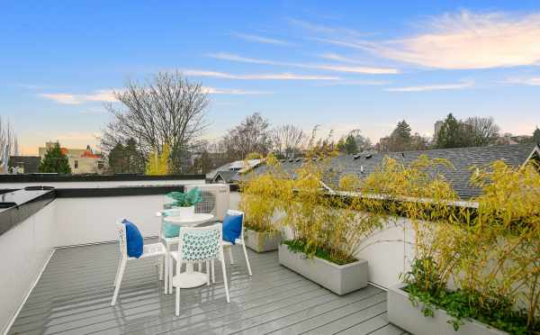Roof Deck at 418F 10th Ave E
