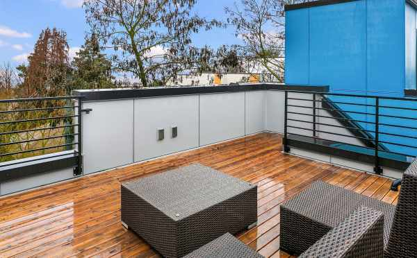 Rooftop Deck at 1541B 14th Ave in the Hawk's Nest Townhomes