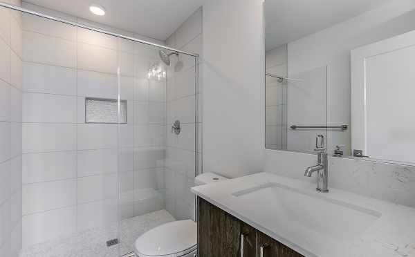 Master Bathroom at 1703 NW 62nd St in the Kai Townhomes