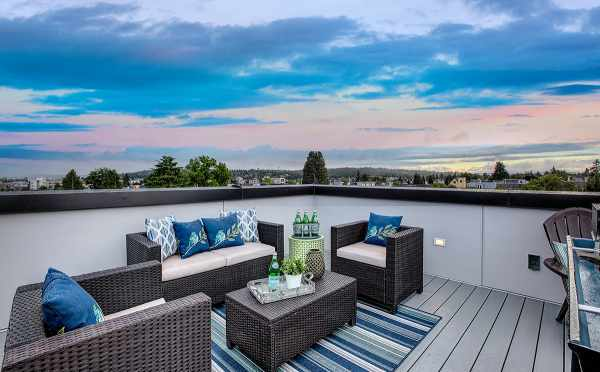 Roof Deck of One of the Kai Townhomes in Ballard