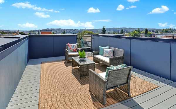 Roof Deck at One of the Lifa East Townhomes
