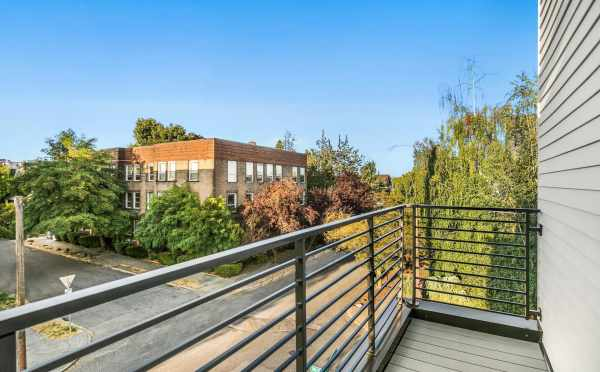 Deck off the Owner's Suite at 323 Malden Ave E, One of the Mika Townhomes in Capitol Hill