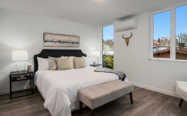 Master Bedroom of Unit 408A at Oncore Townhomes in Capitol Hill