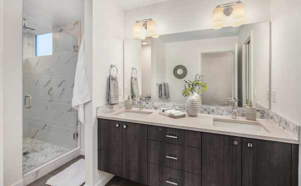 Master Bathroom in the One of the Units of Oncore Townhomes