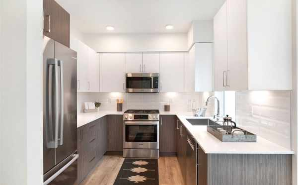 Kitchen at 5111F Ravenna Ave NE, One of the Tremont Townhomes