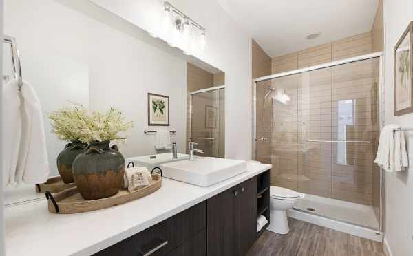 Upstairs Bathroom in One of the Twin II Duplexes in East Queen Anne
