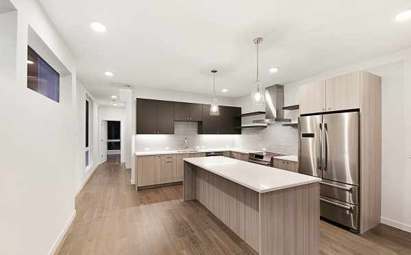 Kitchen in the Second Twin II Townhome