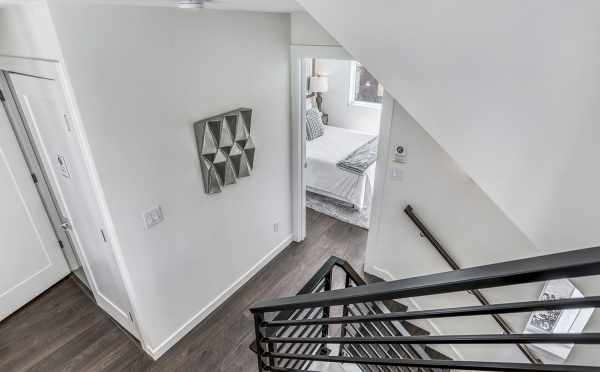 View from the Stairway into the Second Bedroom at 1724B 11th Ave