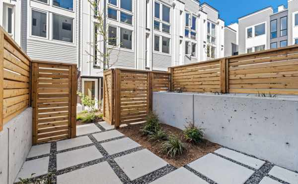 Patio Off the First-Floor Bedroom at 1105B 14th Ave