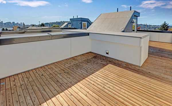 Roof Deck at 3549 Wallingford Ave N of the Lucca Townhomes