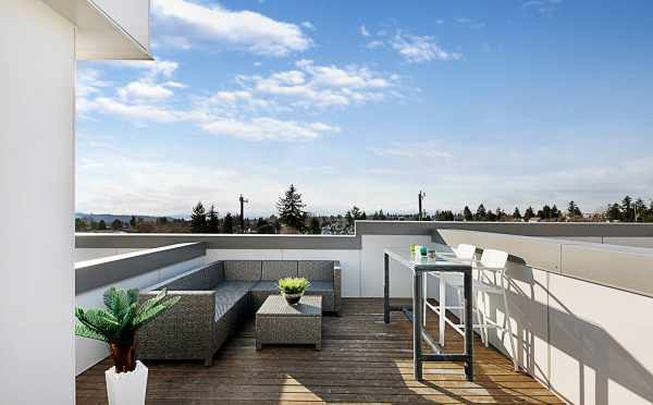Rooftop Deck at 7530B 15th Ave NW, Live-Work Unit in Talta Ballard