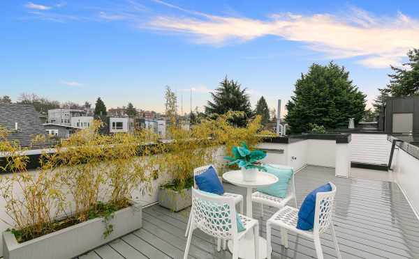 Rooftop Deck at 418F 10th Ave E, One of the Core 6.2 Townhomes